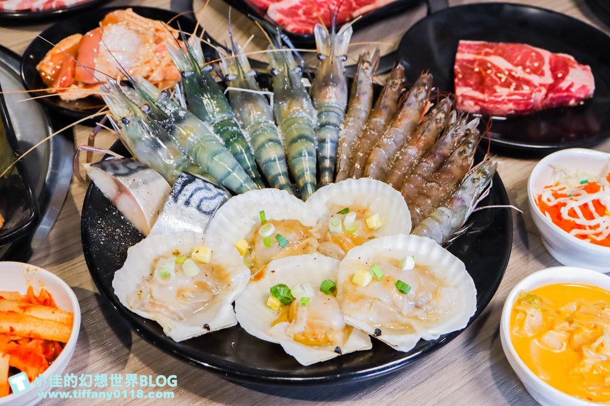 [台中美食]羊角炭火燒肉吃到飽/現撈泰國蝦+生蠔+安格斯牛排任你吃/超過80種食材還有生啤無限暢飲