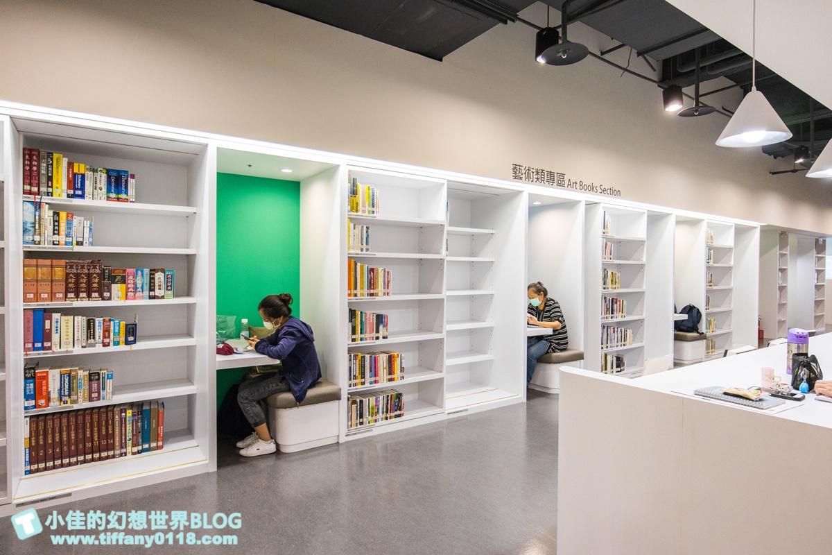 新北市立圖書館新店分館/全臺首座藝術風主題圖書館/親子閱覽室及網美風閱覽室/窗邊座位區一位難求