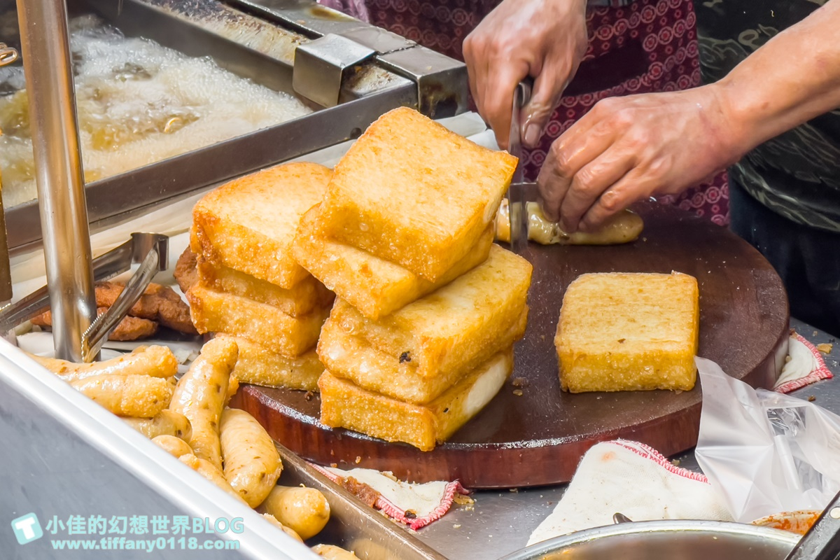 [板橋美食]高記生炒魷魚+蘿蔔糕、芋粿Q、糯米腸/黃石市場排隊美食推薦