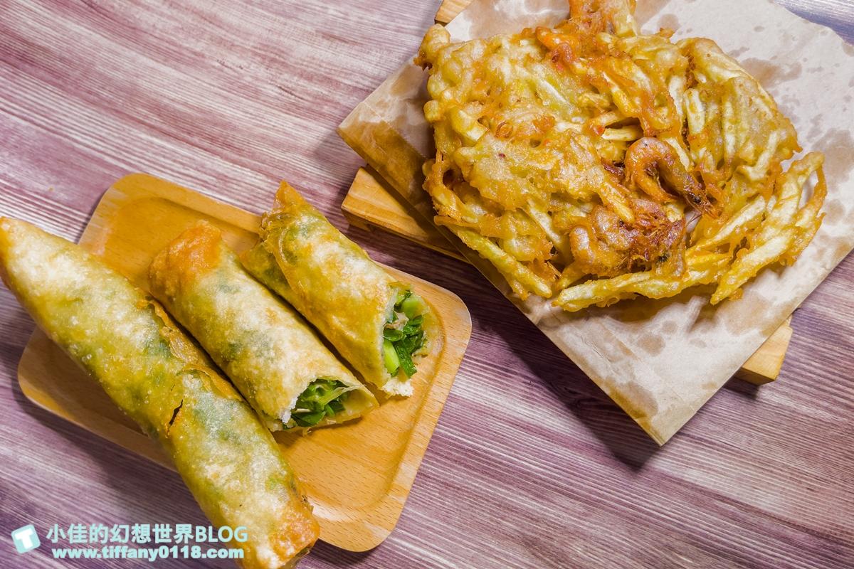 [宜蘭礁溪美食]春捲伯/韭菜春捲+蝦餅只要45元/在地人激推的排隊銅板美食